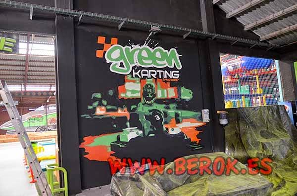 Mural karting para Green Indoor Park