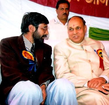 Rajen Todariya with P.K.Dhumal C.M. Himachal Pradesh