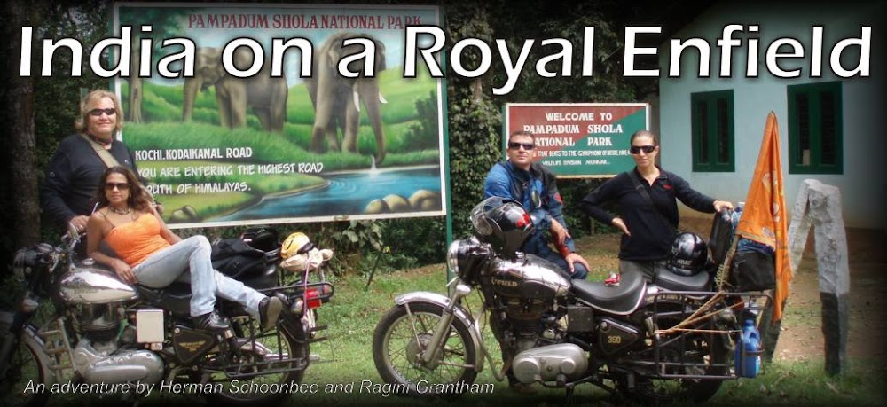 India on a Royal Enfield