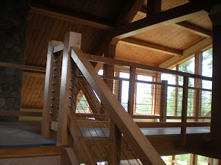 cable railing stairs timber frame http://huismanconcepts.com/