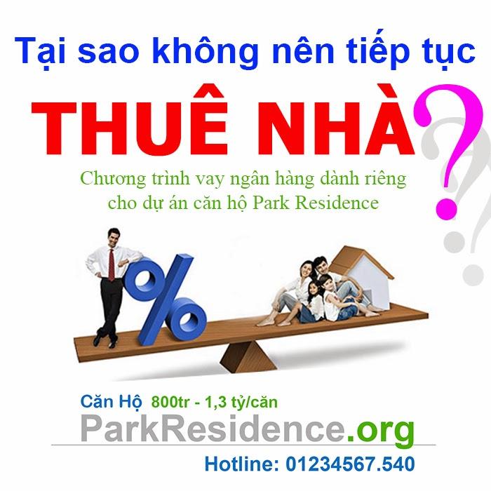 Vay ngân hàng mua căn hộ Park Residence - ParkResidence.org