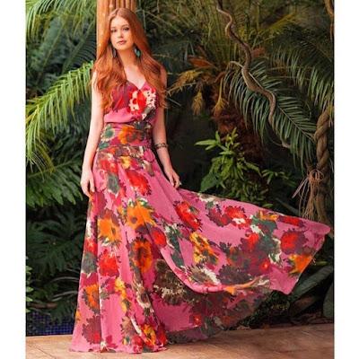 Lindo vestido de Marina Ruy Barbosa
