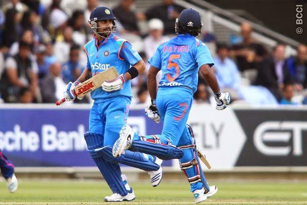 Virat-Kohli-Ambati-Rayudu-Middlesex-vs-Indians-India-Tour-England-2014