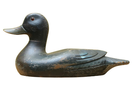 Wooden Quebec Duck Decoy