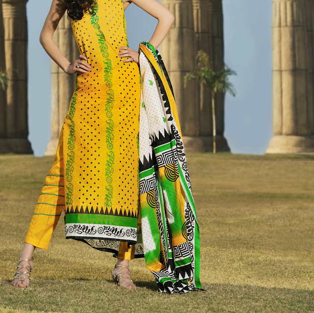 Gul Ahmed Latest 2013 design of normal lawn