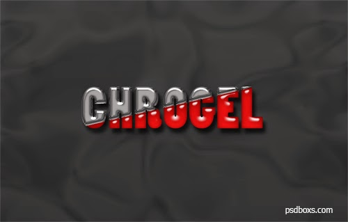 Create a Chrome And Gel Text Effect In Photoshop