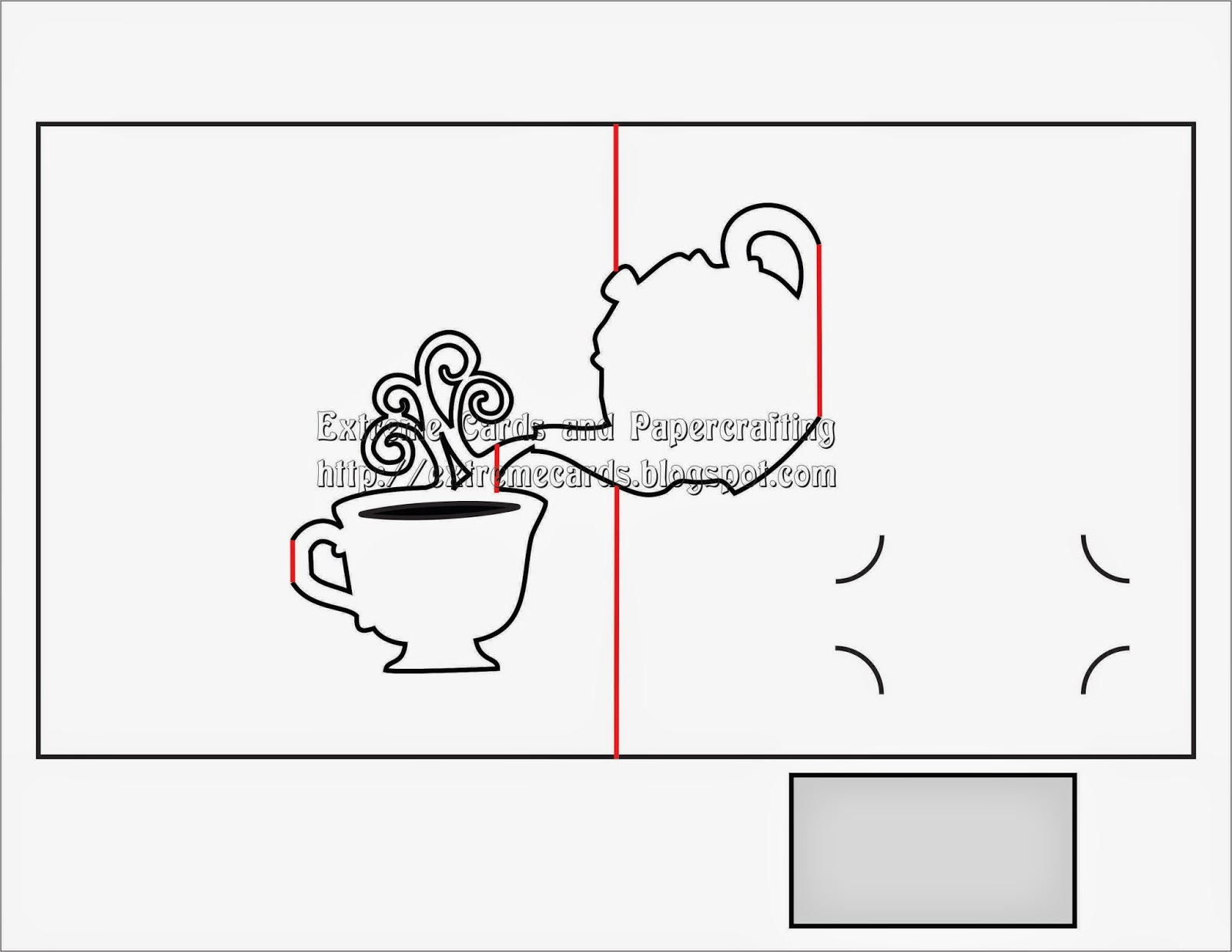 diagram of tea pop up card