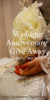 """Wedding Anniversary GiveAway"""