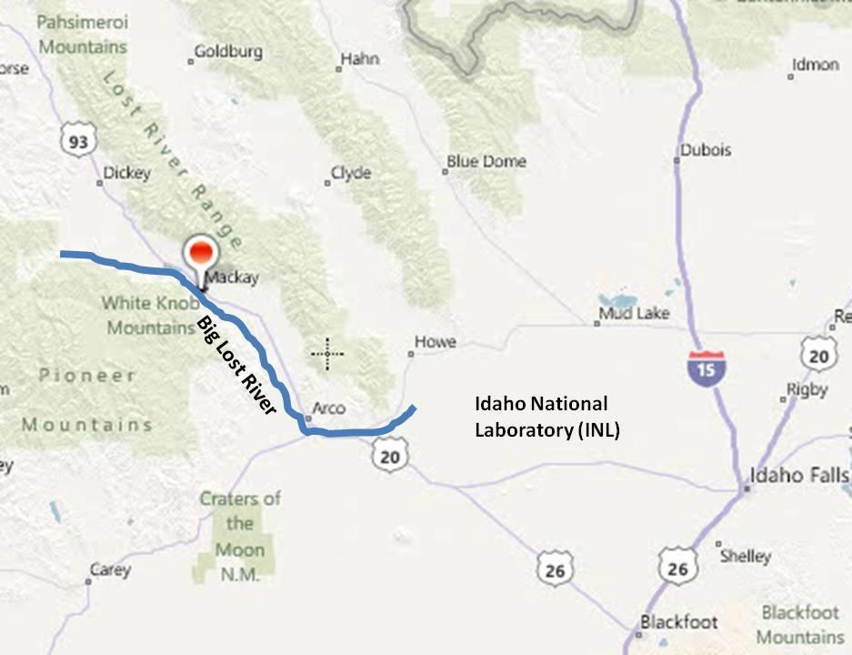 Mackay, Idaho 83251: Big Lost River Flows to the INL in November 2011