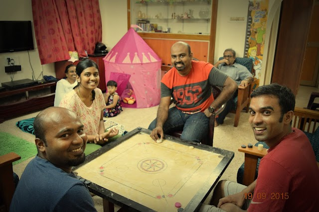756. Cousins and Carrom board.