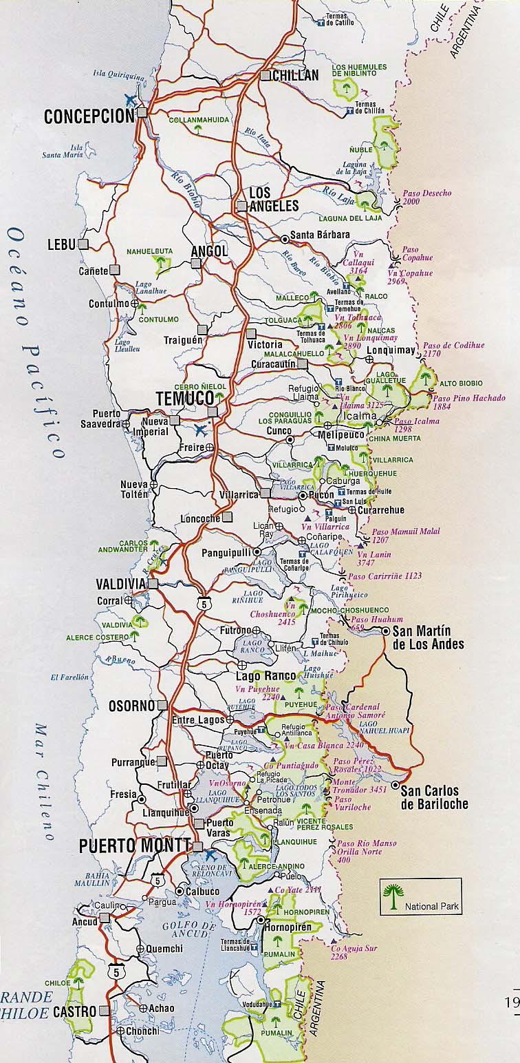 Mapa politico x region chile for Mapa de santiago de chile