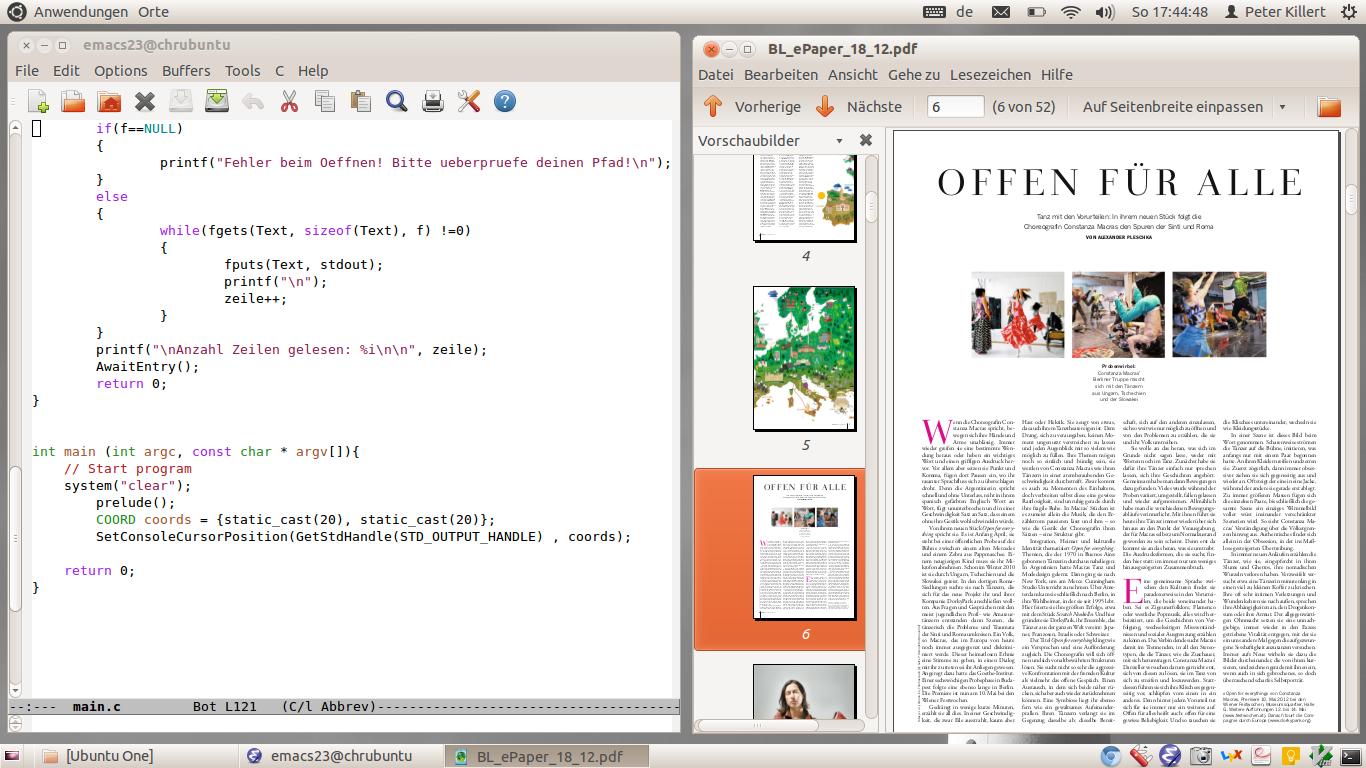 Ubuntu Emacs Evince Chromebook