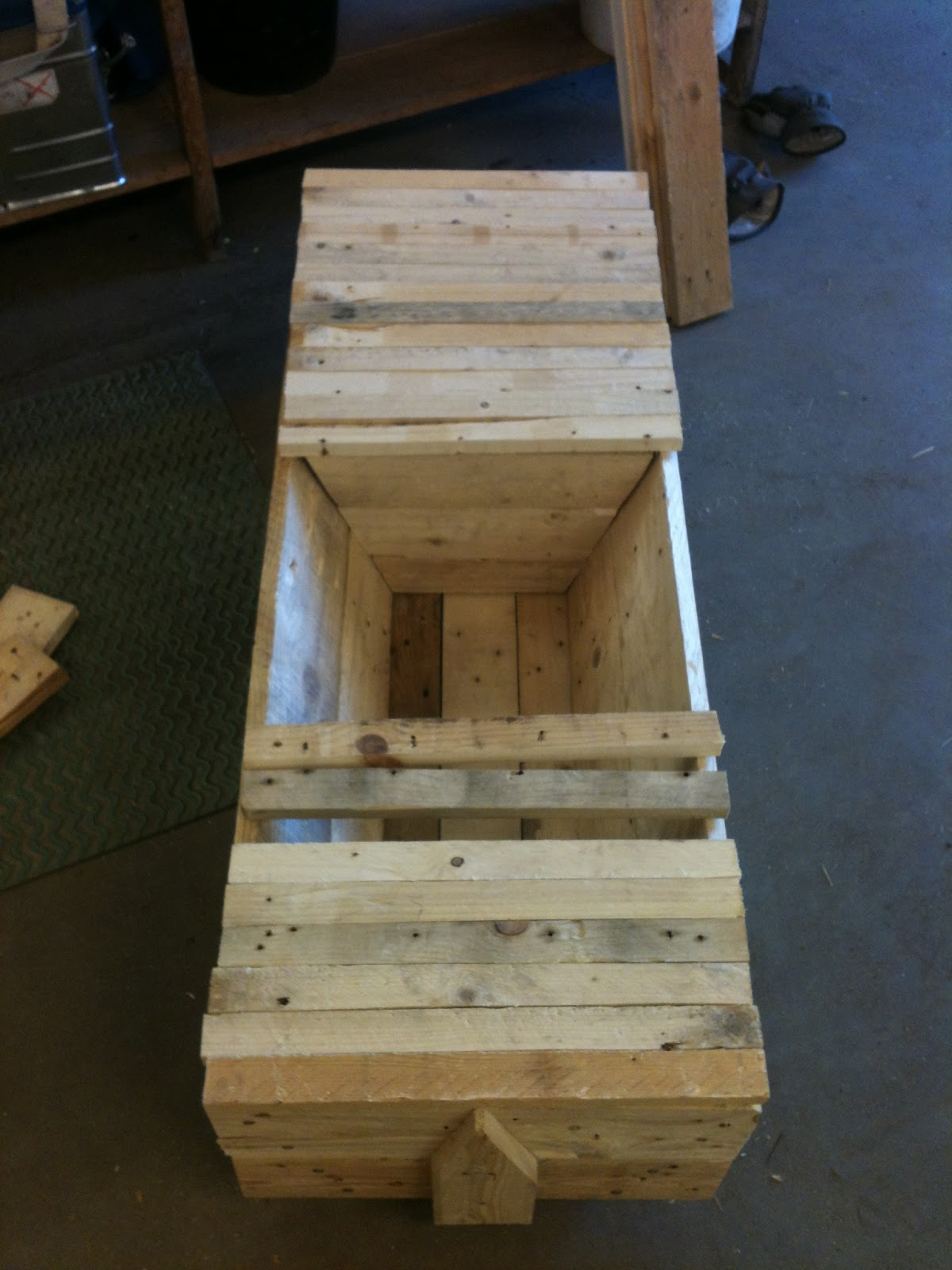 The Finished Top Bar Hive Body With A Follower Board In Place And Some Top  Bars (we Need To Rip A Few More Top Bars)