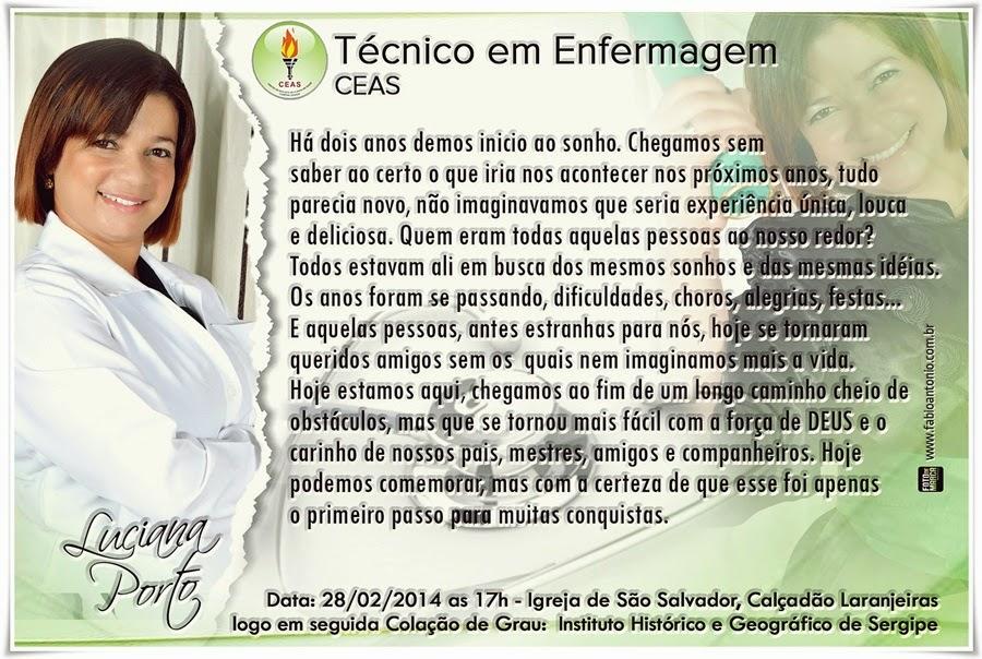 Convite Técnico Em Enfermagem Ceas 2013 2 Grande Aracaju