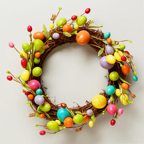15 easter egg wreath ideas source here source here