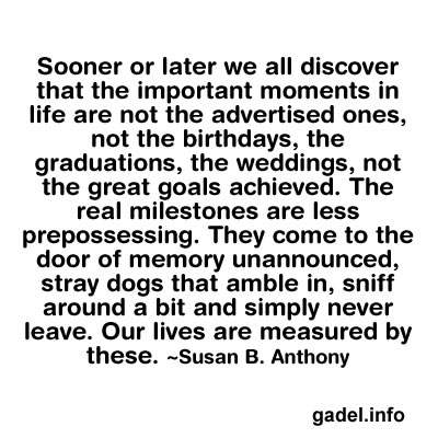 More than sayings the important moments in life