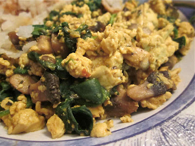 tofu scramble close up