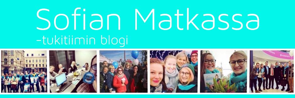 Sofian Matkassa -tukitiimin blogi