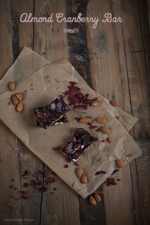 Almond cranberry bar