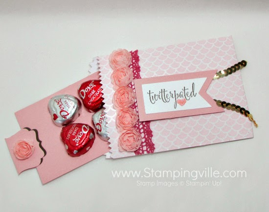 DIY treat bags with Stampin' Up! Mini Treat Bag Thinlits Dies + Big Shot #papercrafts #StampinUp
