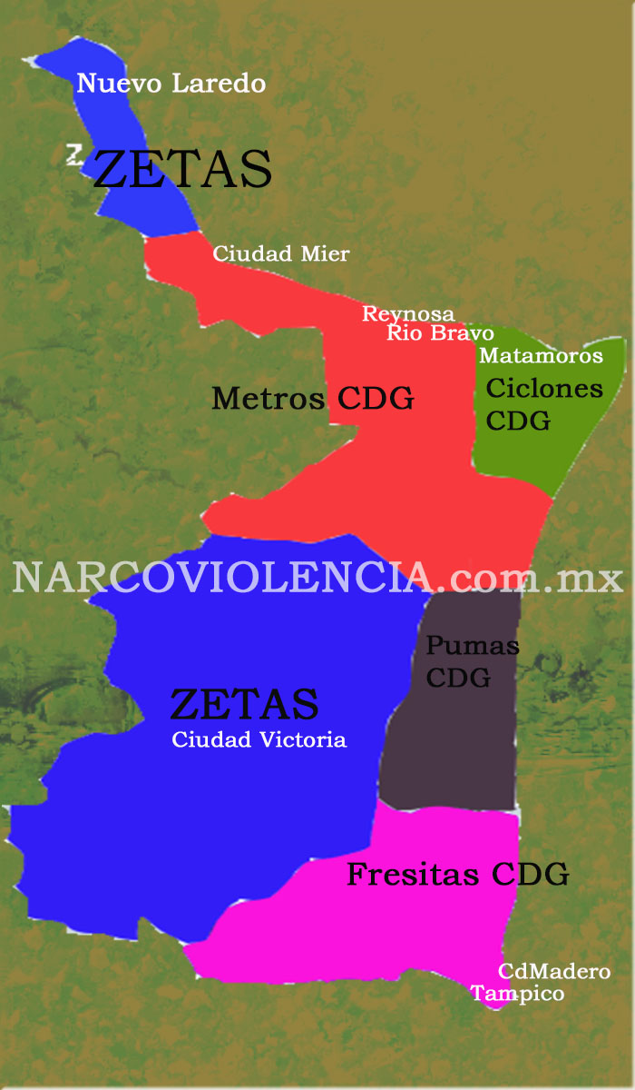 Ya solo quedan 4 facciones del c 225 rtel del golfo en tamaulipas es el
