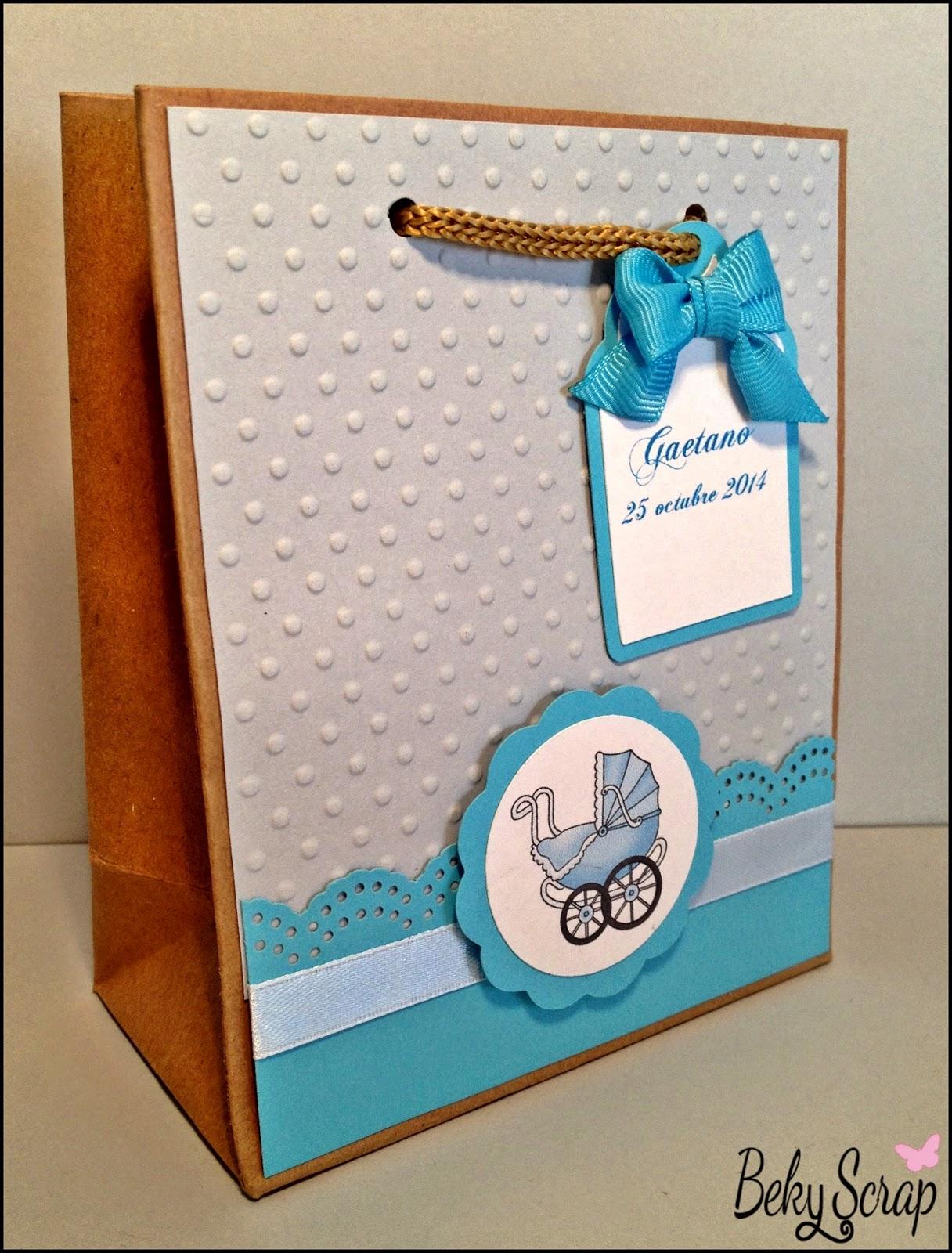 Beky scrap bolsas regalo personalizadas para el bautizo - Bolsas de regalo personalizadas ...