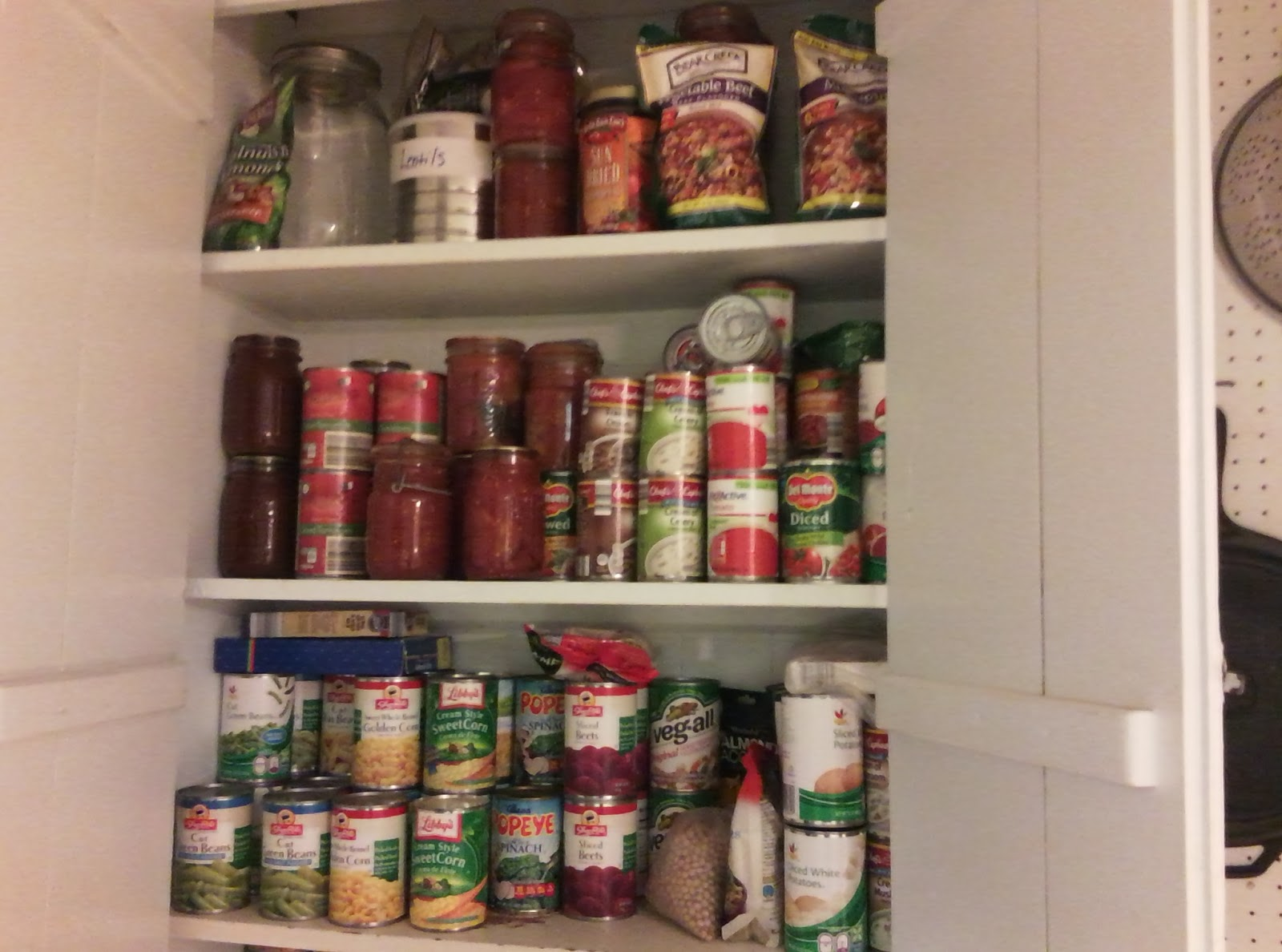 Picture of Canned Goods On Shelves