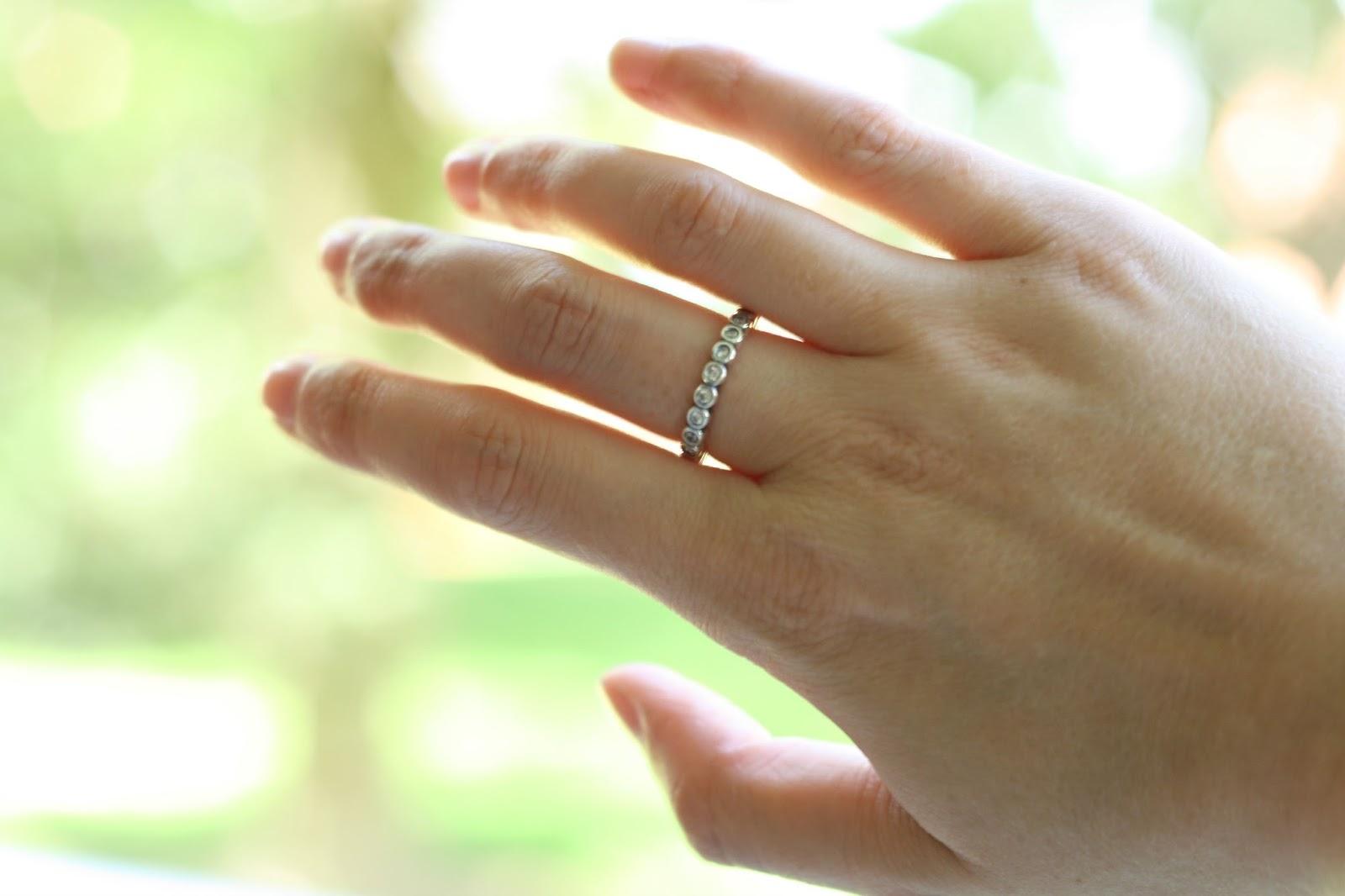 pandora heart stacking ring