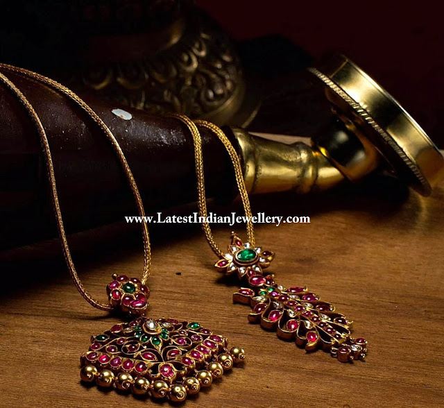 Traditional Heritage Ruby Pendants