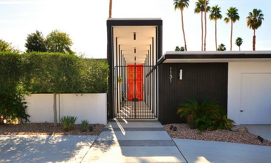 Glamour obsession palm springs chic la dolce vita for Mid century modern exterior house colors