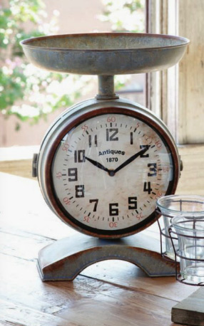 Farmhouse Musings New Vintage Style Scale Clock