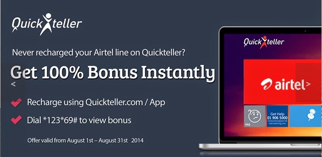 Quickteller is giving all Airtel subscribers instant Bonus this August