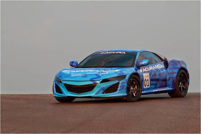 Acura NSX Prototype Laps Mid-Ohio Sports Car Course