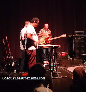 Jeff Parker and Dan Bitney on marimba with Doug McCombs on bass - Tortoise band live at Bentley Mutiara Damansara in Kuala Lumpur KL Malaysia