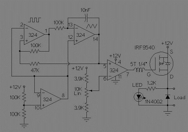 pwm dc motor control sg3525 circuit