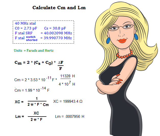 Professor Natasha shows Cm and Lm calculations.