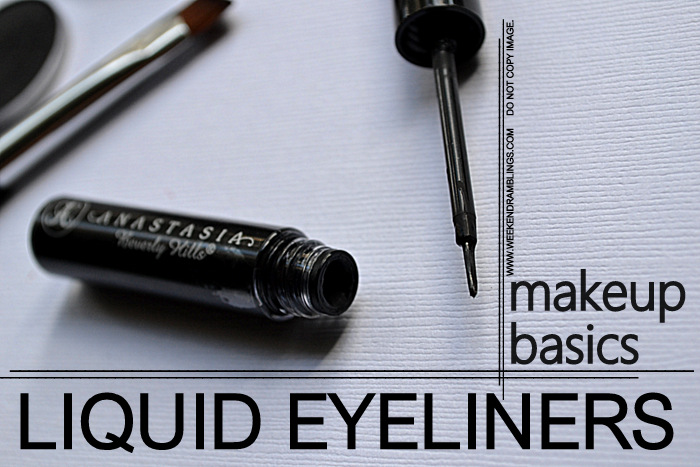 Makeup Basics How to Apply Liquid Eyeliners Easy Steps Indian Beauty Blog FOTD Looks