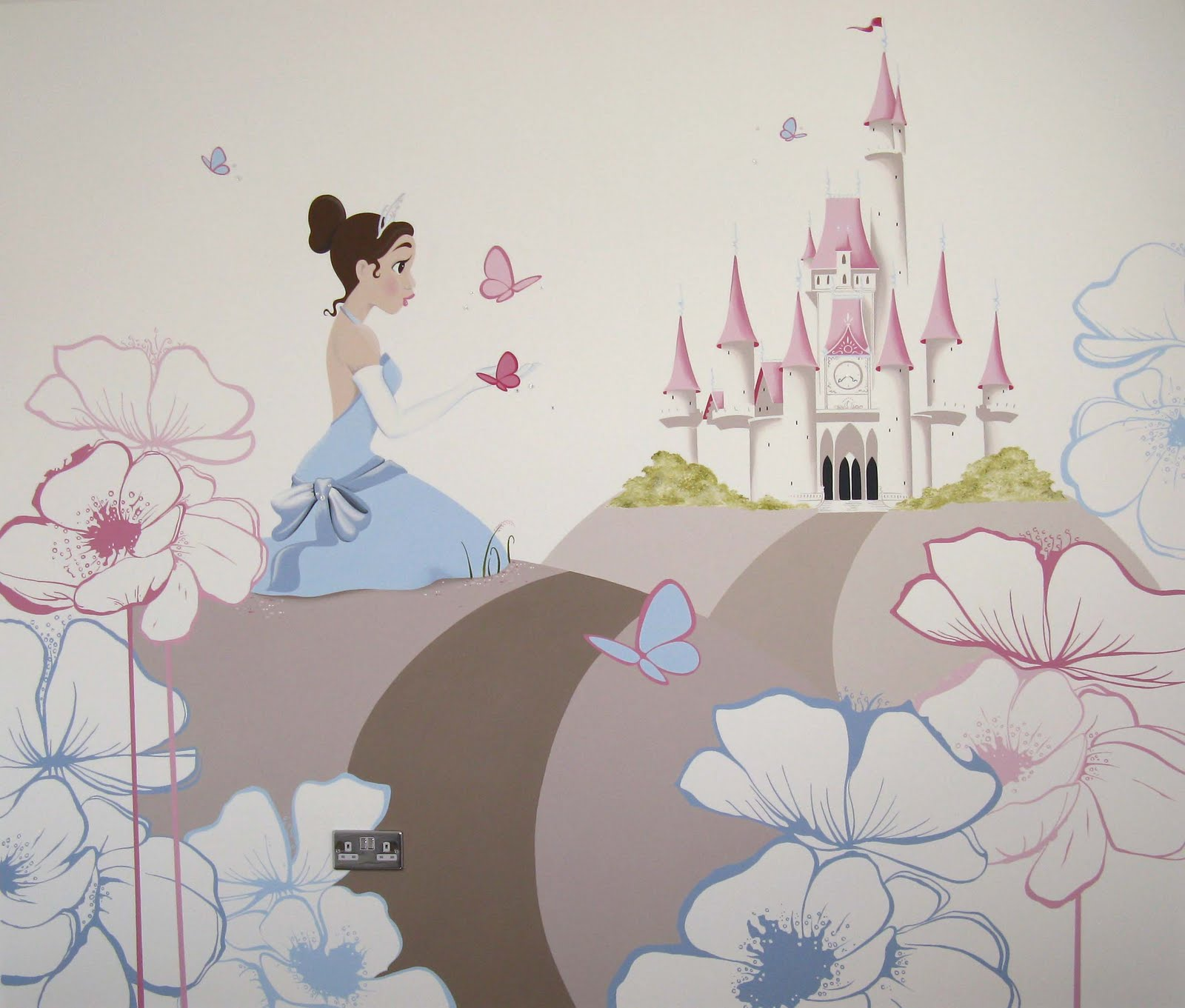 Princess Mural for David Wilson Homes