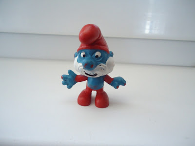 Papa Smurf Figure Peyo W.Germany C.E 2.0001 Schtroumpfe Schlumpf Puffi