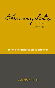 A New Book - Thoughts To Leave Behind