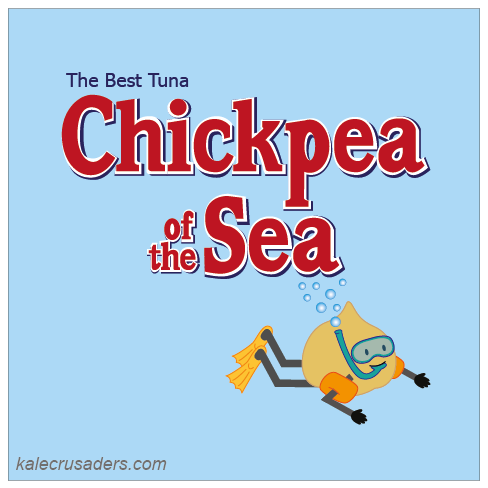 Chickpea of the Sea The Best Tuna, Chickpea Tuna, Chuna, Chickpea Snorkeler, Snorkel, Swimmies, Flippers