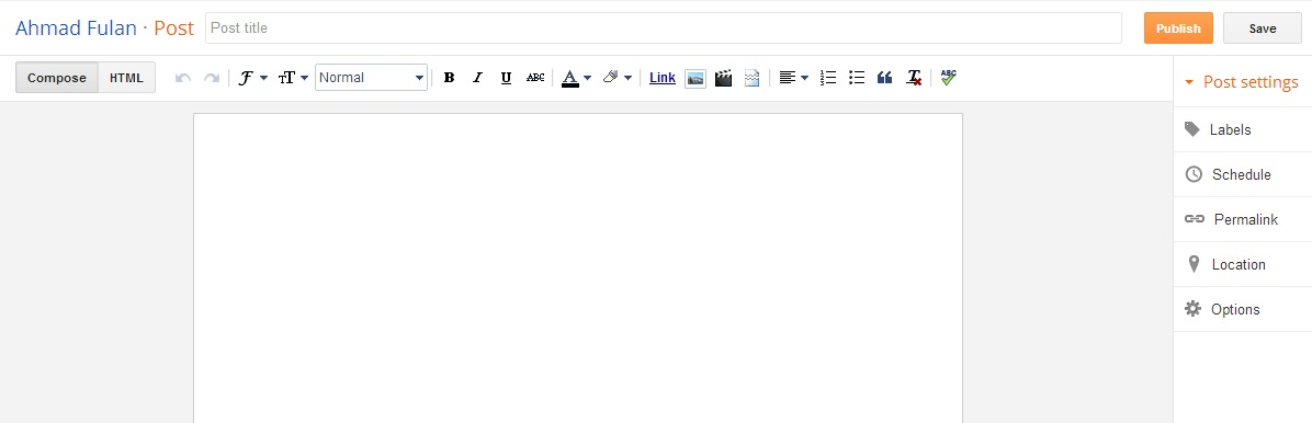 Membuat Tulisan Baru di Blog
