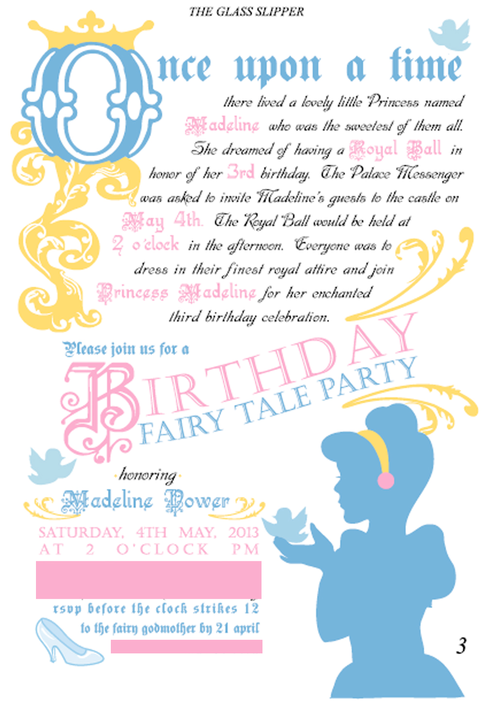 Little housewife cinderella birthday party sneak peek cinderella birthday party sneak peek stopboris Image collections