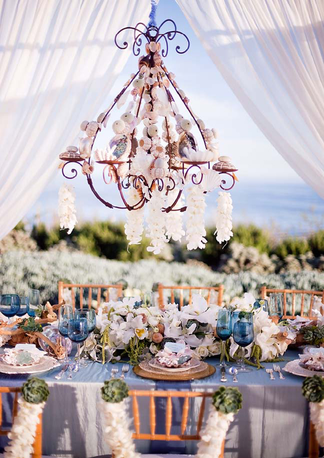 Beach Chic Wedding Decor - Belle the Magazine . The Wedding Blog