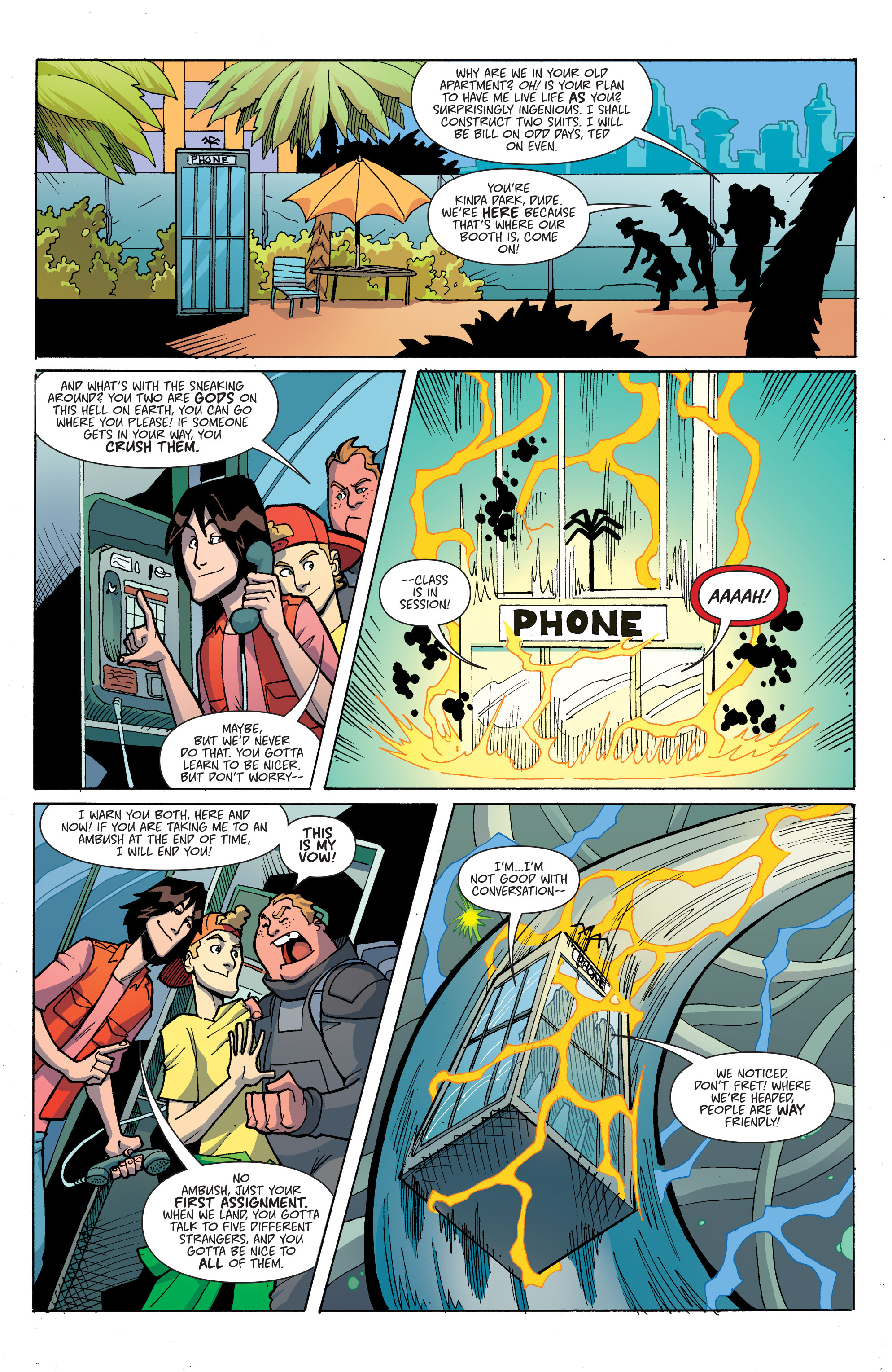 Read online Bill & Ted's Most Triumphant Return comic -  Issue #3 - 4