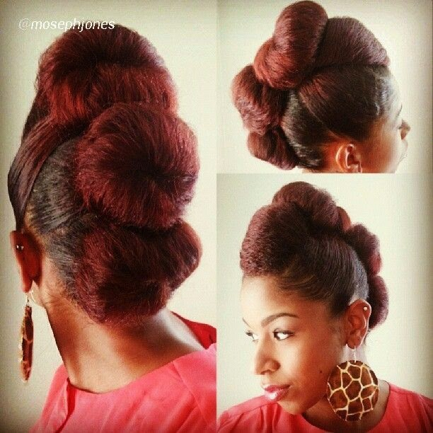 natural hair sock bun