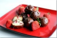 Chocolate Strawberry Zeppole