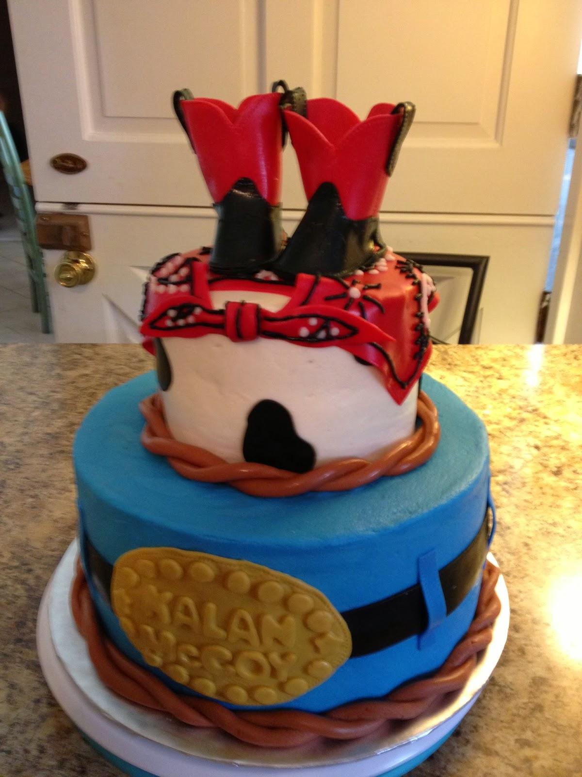 A Blissful Bash Cowboy Baby Shower Cake