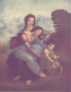 Madonna, Infant Christ and St Anne-Leonardo Da Vinci's Painting