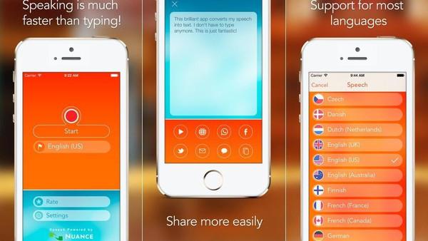 تطبيق Speech Recogniser يحول الكلام لنص مكتوب لأجهزة آيفون و آيباد